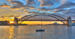 Sydney Harbour bridge. Sunset at Sydney Harbour bridge Stock Image