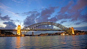 Sydney Harbour Bridge Sunset Imagem de Stock Royalty Free