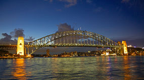 Sydney Harbour Bridge Sunset Fotografia de Stock Royalty Free