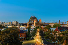 Sydney Harbour Bridge Sydney Australia. At evening from Millers Point Stock Images