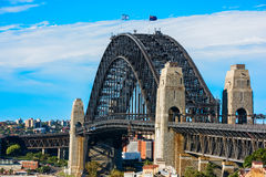 Sydney Harbour Bridge Sydney Australia. From Millers Point Royalty Free Stock Photography