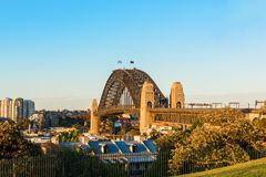 Sydney Harbour Bridge Sydney Australia. From Millers Point Royalty Free Stock Photo