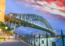 Sydney Harbour Bridge, Sydney, Australia at night Stock Photo