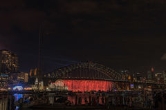 Sydney Harbour Bridge Sydney Australia at night. Stock Photo