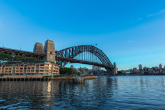 Sydney Harbour Bridge Sydney Australia. NOV 09,2016 The Sydney Harbour Bridge is a steel through arch bridge across Sydney Harbour that carries rail, vehicular Stock Photo