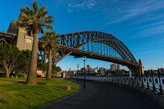 Sydney Harbour Bridge Sydney Australia. NOV 09,2016 The Sydney Harbour Bridge is a steel through arch bridge across Sydney Harbour that carries rail, vehicular Stock Photography
