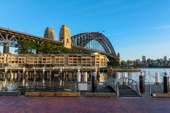 Sydney Harbour Bridge Sydney Australia. NOV 09,2016 The Sydney Harbour Bridge is a steel through arch bridge across Sydney Harbour that carries rail, vehicular Royalty Free Stock Photography