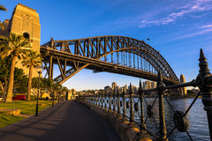 Sydney Harbour Bridge Sydney Australia. NOV 11,2016 The Sydney Harbour Bridge is a steel through arch bridge across Sydney Harbour that carries rail, vehicular Royalty Free Stock Photo