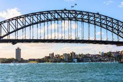 Sydney Harbour Bridge Sydney Australia. The Sydney Harbour Bridge is a steel through arch bridge across Sydney Harbour that carries rail, vehicular, bicycle, and Royalty Free Stock Image