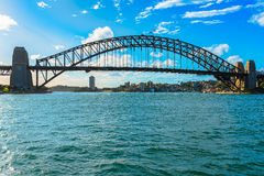 Sydney Harbour Bridge Sydney Australia. The Sydney Harbour Bridge is a steel through arch bridge across Sydney Harbour that carries rail, vehicular, bicycle, and Royalty Free Stock Photos