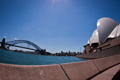 Sydney Harbour Bridge and Sydney Opera House Stock Photography