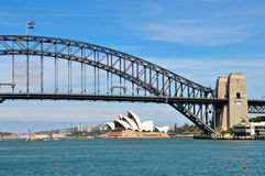 Sydney Harbour Bridge and Sydney Opera House Royalty Free Stock Photography