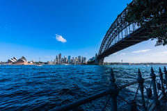 Sydney Harbour Bridge and Sydney Opera House. NSW Australia. Sep 26,2016 the Sydney Opera House is one of the modern building, well known worldwide Royalty Free Stock Images