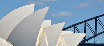 Sydney Harbour Bridge and Sydney Opera House skyline Stock Photos