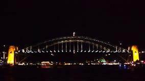 Sydney harbour bridge time lapse stock video footage