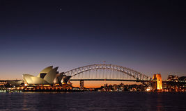 Sydney Harbour Bridge Twilight Royalty Free Stock Images