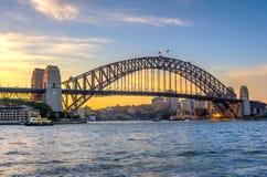 Sydney harbour bridge in twilight Royalty Free Stock Photography