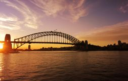 Sydney Harbour Bridge, un monumento storico australiano, Australia immagine stock libera da diritti
