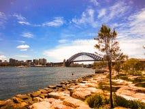Sydney Harbour Bridge. A view of Sydney Harbour Bridge stock photos