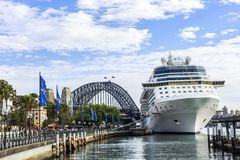 Sydney harbour bridge royalty free stock photos