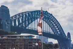 Sydney Harbour Bridge visto del muelle circular Fotos de archivo libres de regalías