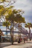 Sydney Harbour Bridge visto del muelle circular Foto de archivo