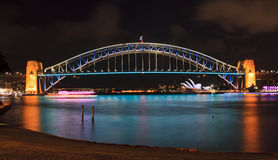 Sydney Harbour Bridge 02 Vivid Royalty Free Stock Images
