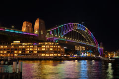 Sydney Harbour Bridge Vivid Sydney Royalty Free Stock Image