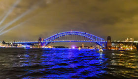 Sydney Harbour Bridge - Vivid Sydney. Sydney Harbour Cruise for Vivid in Sydney, New South Wales, Australia Royalty Free Stock Image