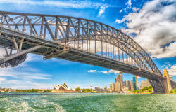Sydney Harbour Bridge, wide angle view Stock Photography