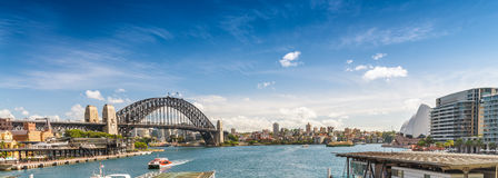 Sydney Harbour Bridge, wide angle view Royalty Free Stock Photos