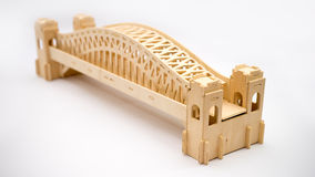 Sydney Harbour bridge woodcraft model Royalty Free Stock Photography