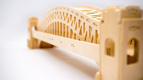 Sydney Harbour bridge woodcraft model Stock Photography