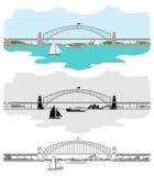 Sydney Harbour Bridge y otros símbolos australianos libre illustration