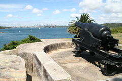 Sydney harbour cannon Royalty Free Stock Photography