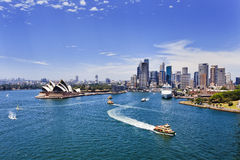 Sydney Harbour CBD day Stock Photography