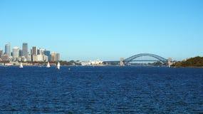 Sydney Harbour, città, teatro dell'opera e ponte, Australia Fotografia Stock Libera da Diritti