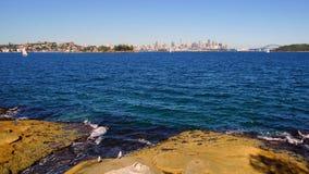 Sydney Harbour, città, teatro dell'opera e ponte, Australia Immagini Stock