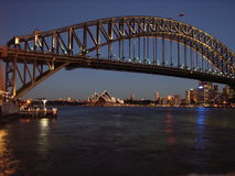 Sydney harbour at dawn. Sydney´s opera house and harbour bridge at dawn Stock Images