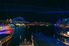 Sydney Harbour durante el festival vivo 2019 foto de archivo libre de regalías