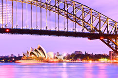 Sydney Harbour at dusk Royalty Free Stock Photos