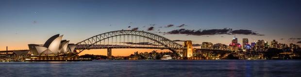 Sydney harbour at dusk, Sydney NSW, Australia stock photo