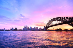 Sydney Harbour at dusk Royalty Free Stock Images