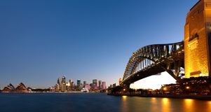 Sydney harbour at dusk. A view of Sydney Harbour after sunset Stock Image