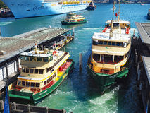 Sydney Harbour,Ferries and Bridge Royalty Free Stock Photo