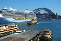 Sydney Harbour,Ferries and Bridge Stock Photo