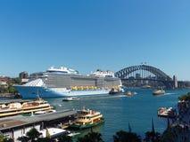 Sydney Harbour,Ferries and Bridge Stock Photos