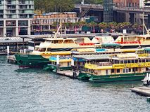 Sydney Harbour Ferries, Circular Quay, Australia Royalty Free Stock Images