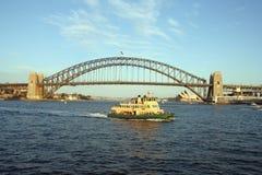 Sydney Harbour ferry. Sydney Harbour Bridge and ferry, Sydney, Australia Stock Photo