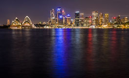 Sydney Harbour la nuit Photographie stock